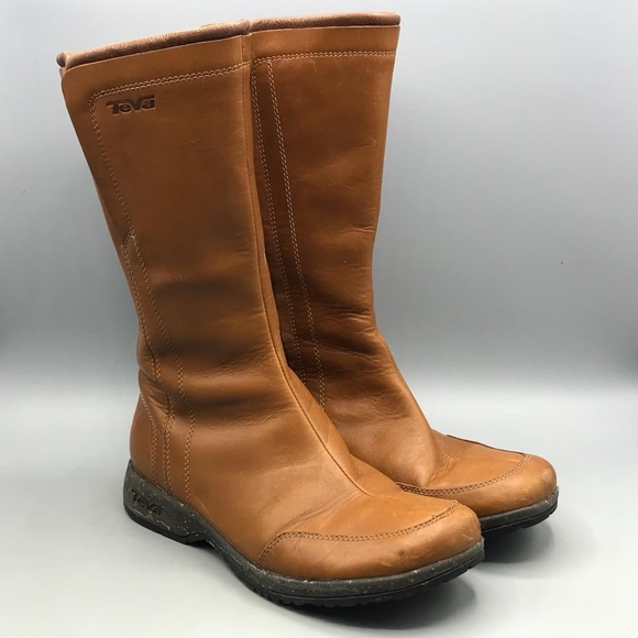 c7e677d66587 Teva Brown Tan Leather Waterproof Capistrano Boots.  M 5adff57346aa7c059c6e07e5